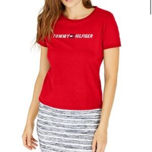 Tommy Hilfiger red logo tee